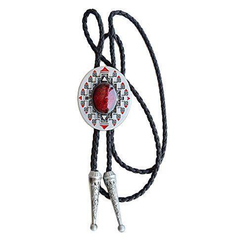 Handmade Eagle Bolo Tie Necklace Folk Art Wooden Country ... |Bolo Western Artwork