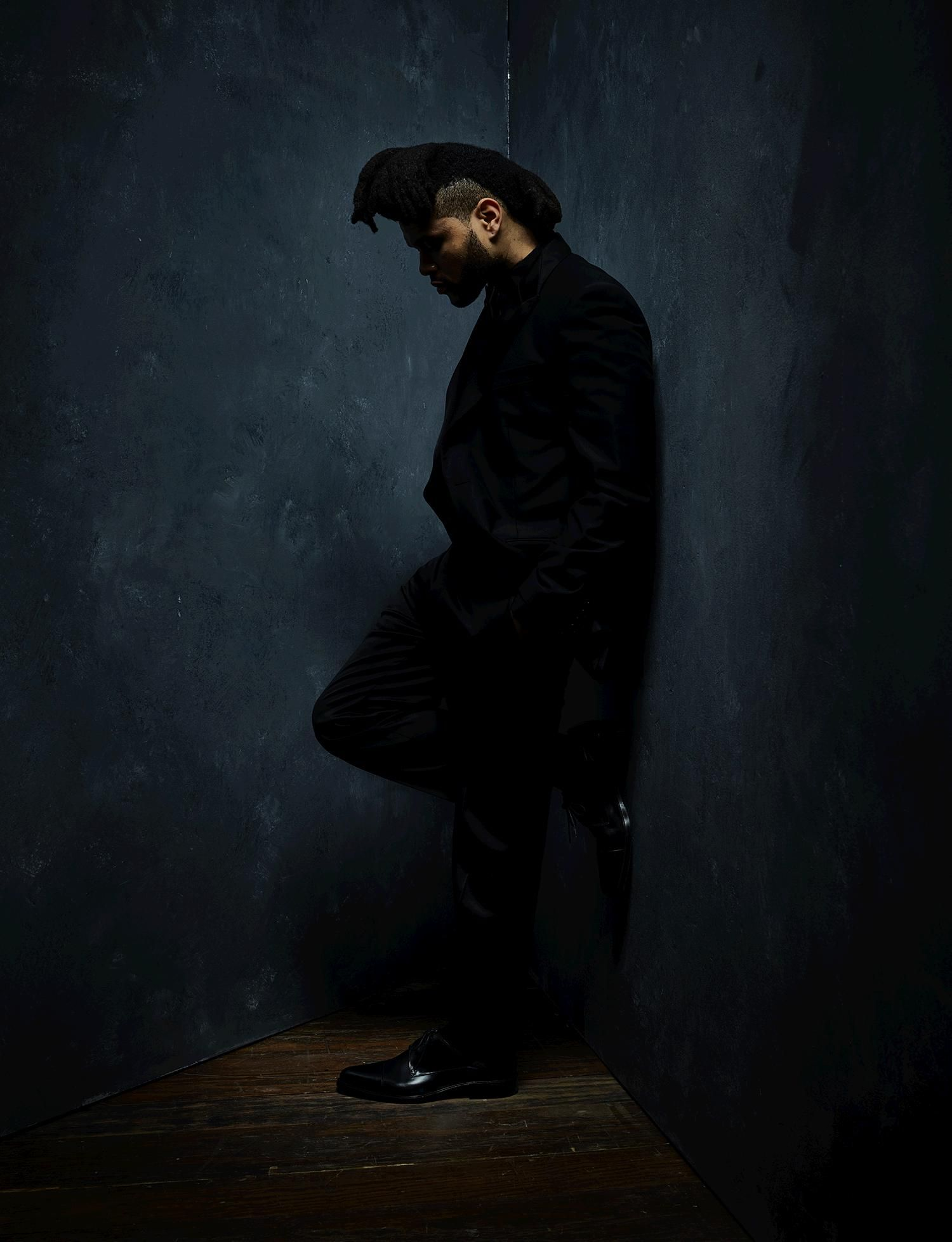 GRAMMY winner The Weeknd photographed by Danny Clinch backstage at