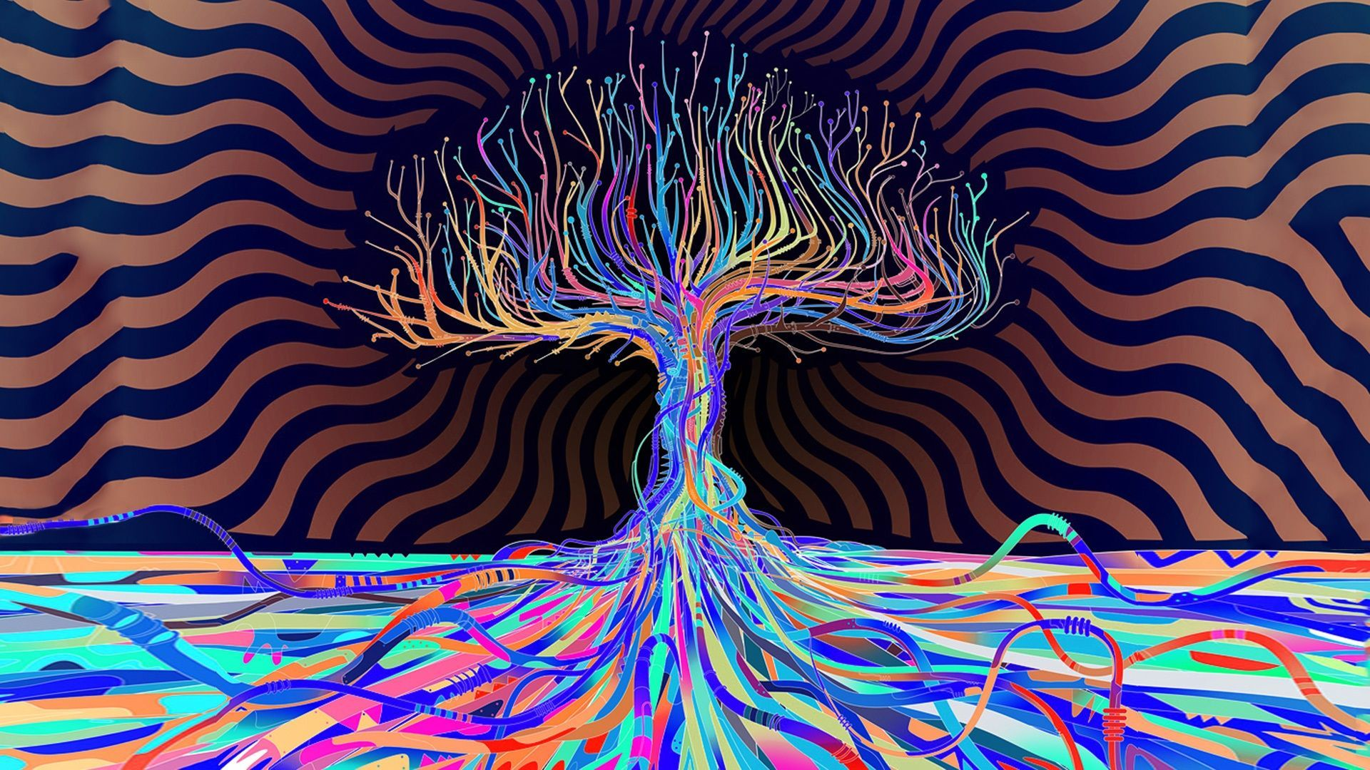 psychedelic HD Wallpapers Trees. oneirodelic Pinterest