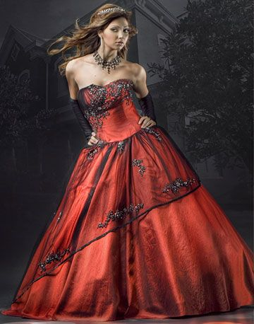 Red And Black Wedding Dress - Ocodea.com