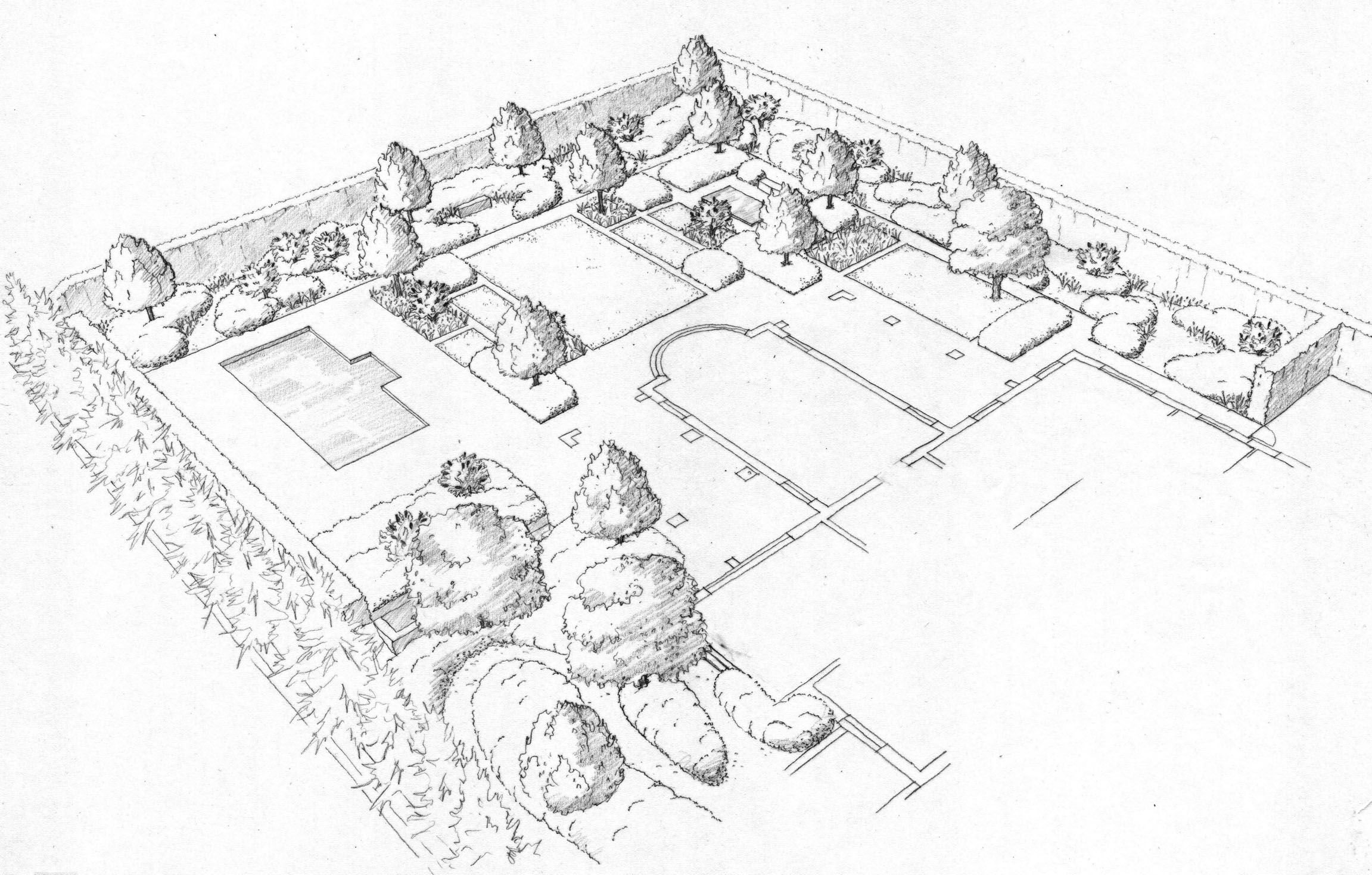 Landscape Drawings Garden Designs