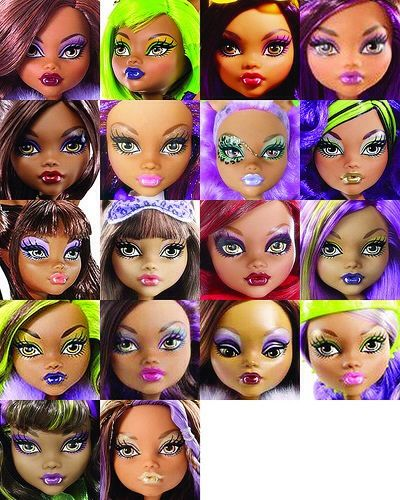 All of the clawdeen wolf dolls ever made so far gave phoebe a bob all of the clawdeen wolf dolls ever made so far gave phoebe a bob haircut made ariels hair back 2 straight gave clawdeen a makeup make over winobraniefo Image collections