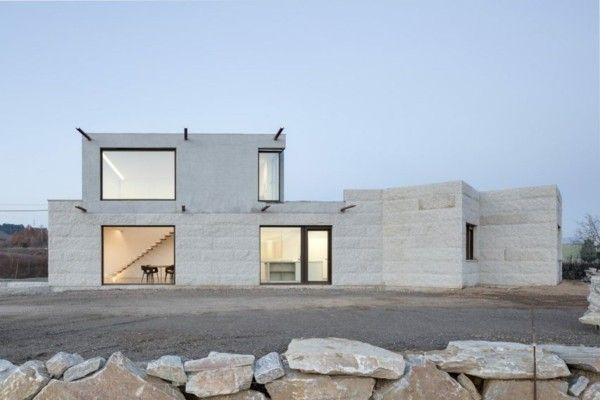 Einsatz Von Granitplatten Bei Fassaden Moderner Hauser Architektur