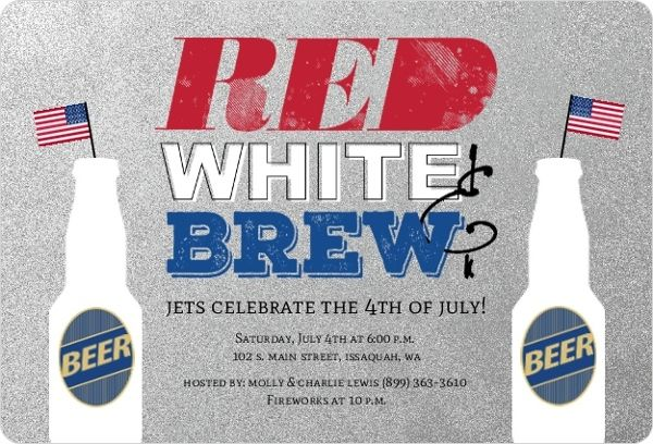 rustic red white brew 4th of july party invitation by inviteshop com