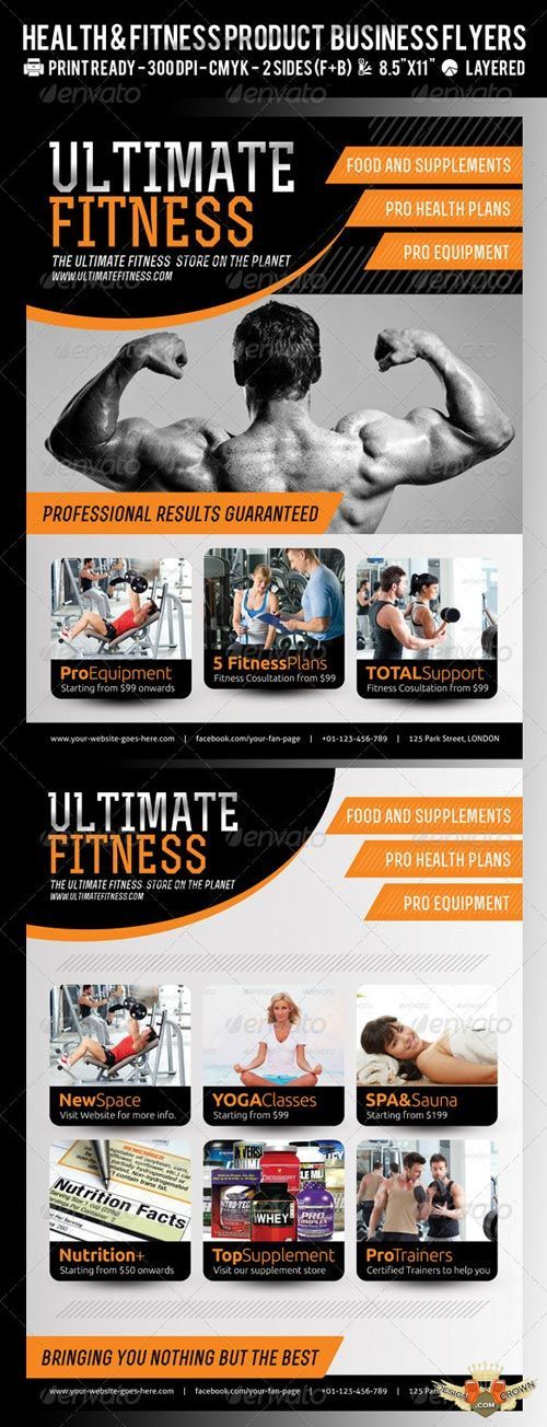 Professional Psd Flyers For Fitness And Gym Promotions And