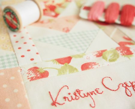 How To Make An Embroidered Signature Block Pretty By