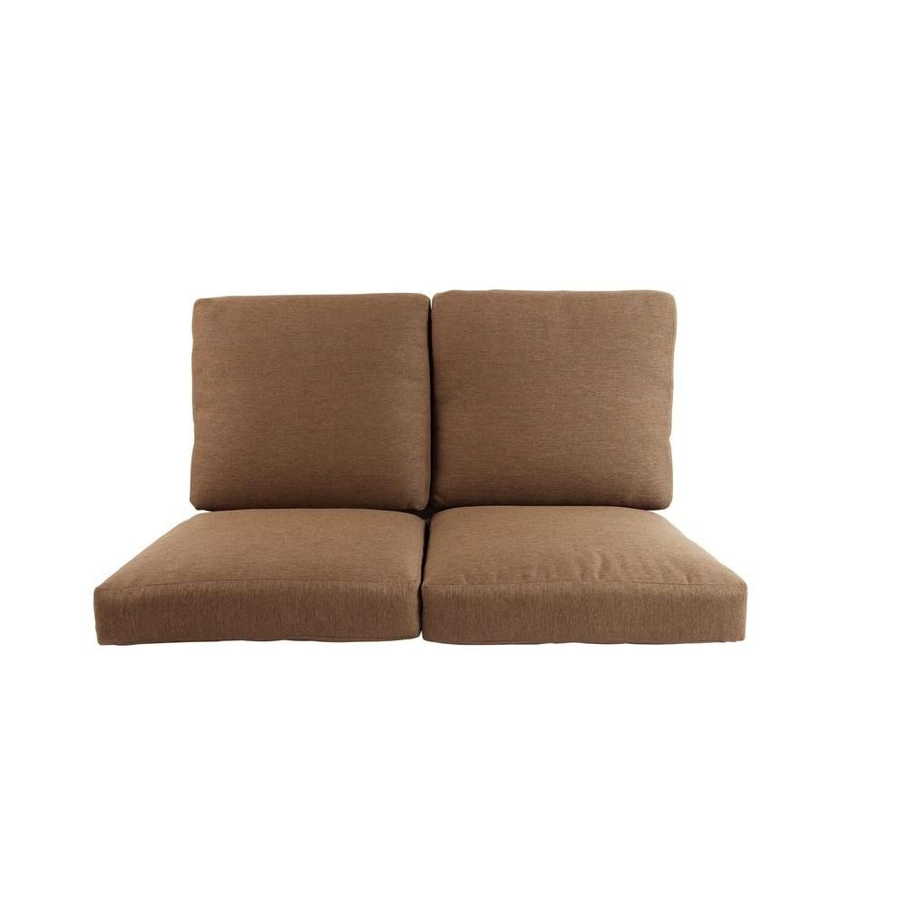 Hampton Bay Pine Valley Replacement Outdoor Deep Seating Loveseat Cushion Zzf03799k01 The Home Depot