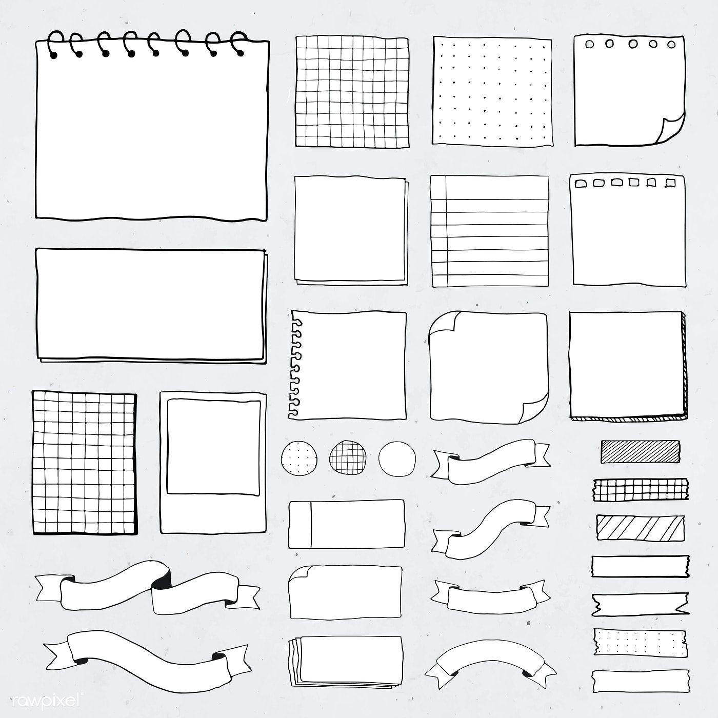 Download premium vector of Blank reminder paper notes