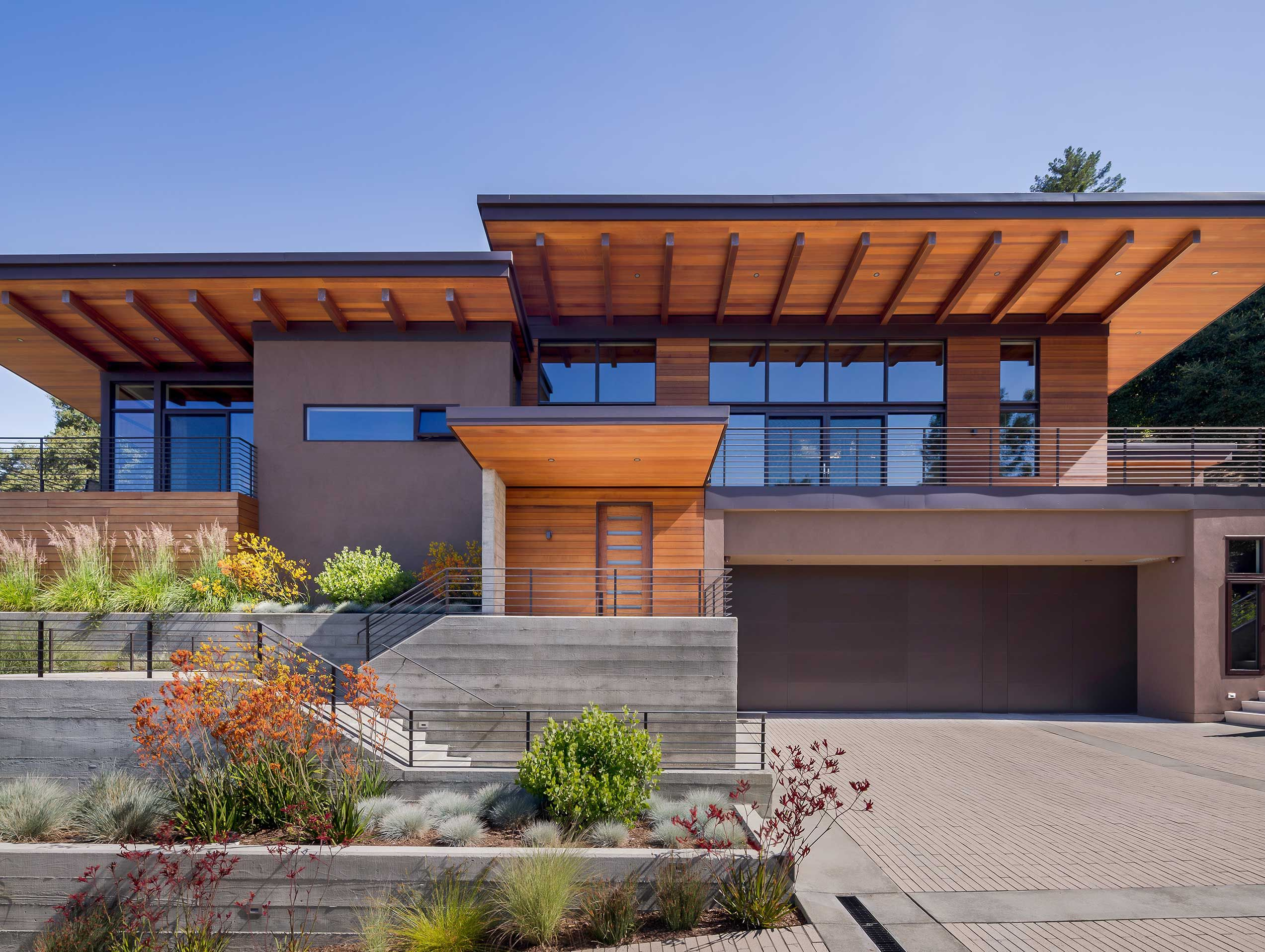 Hillside Retreat House Styles House Exterior Exterior