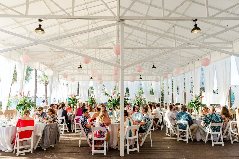 Tropical White Sand Wedding At Hilton Clearwater Beach Resort And Spa In 2020 Wedding Sand Clearwater Beach Resorts Wedding Beach Ceremony