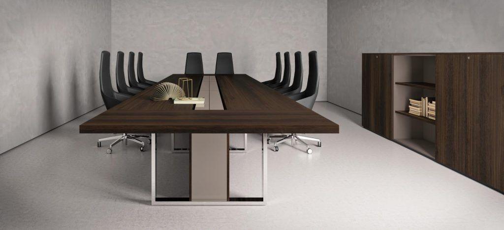 Table De Reunion Tres Haut De Gamme Pour Espaces De Travail De Luxe Table De Reunion Table Design Table De Conference