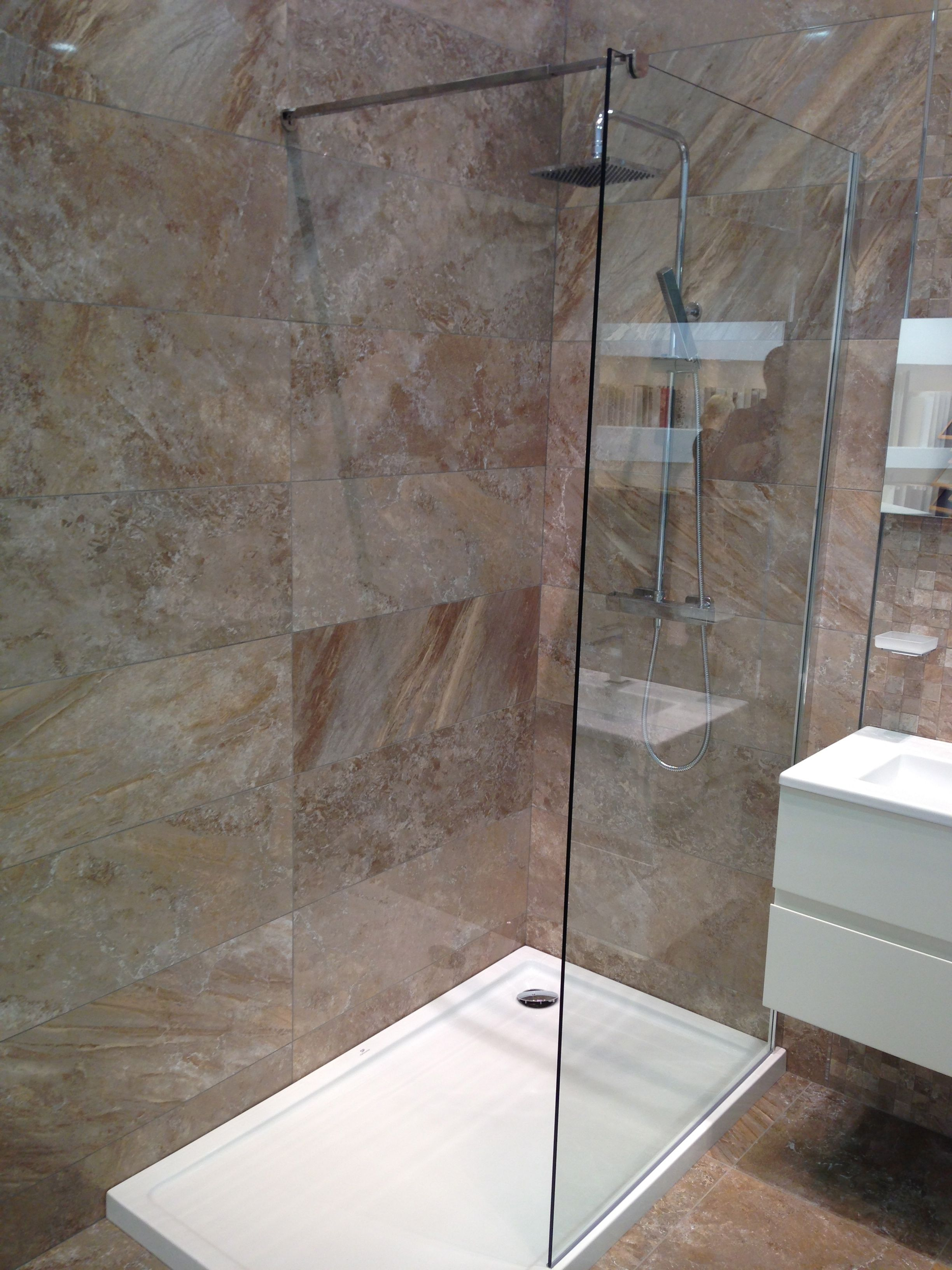 shower cubicle style for oscar but with pebble base on sunken shower ...
