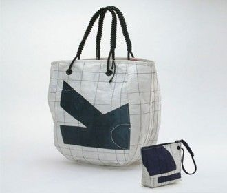 Red Flag Design Sail Fabric Bags Haute Nature Bags Recycled Sailcloth Flag Bag