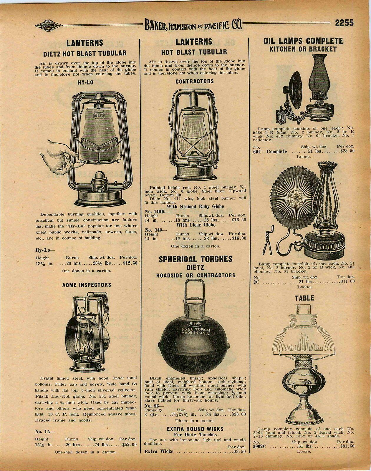 1932 Advertisement 2 Page Dietz Lanterns Blizzard Buckeye Dash Ace
