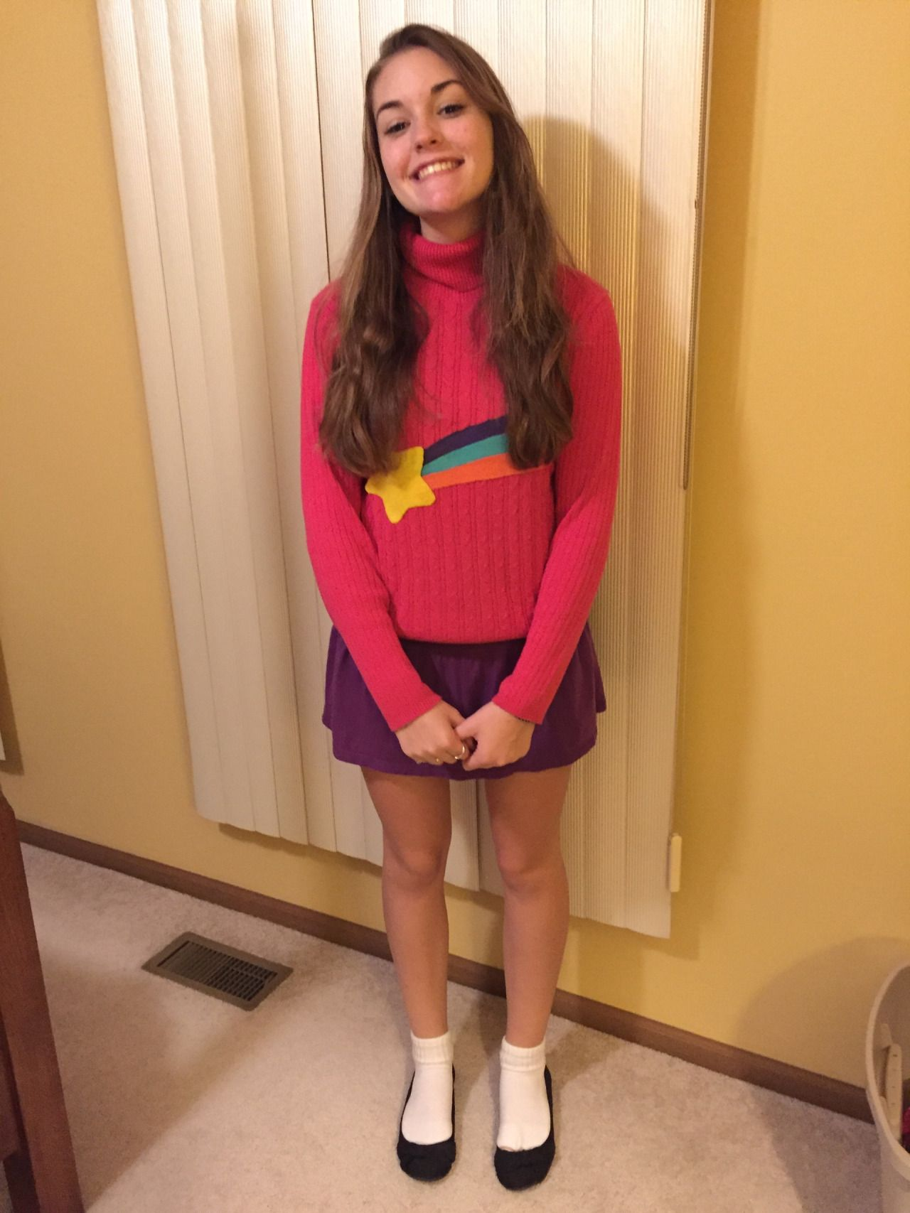 halloween costume im being mabel pines from gravity falls if you couldnt tell