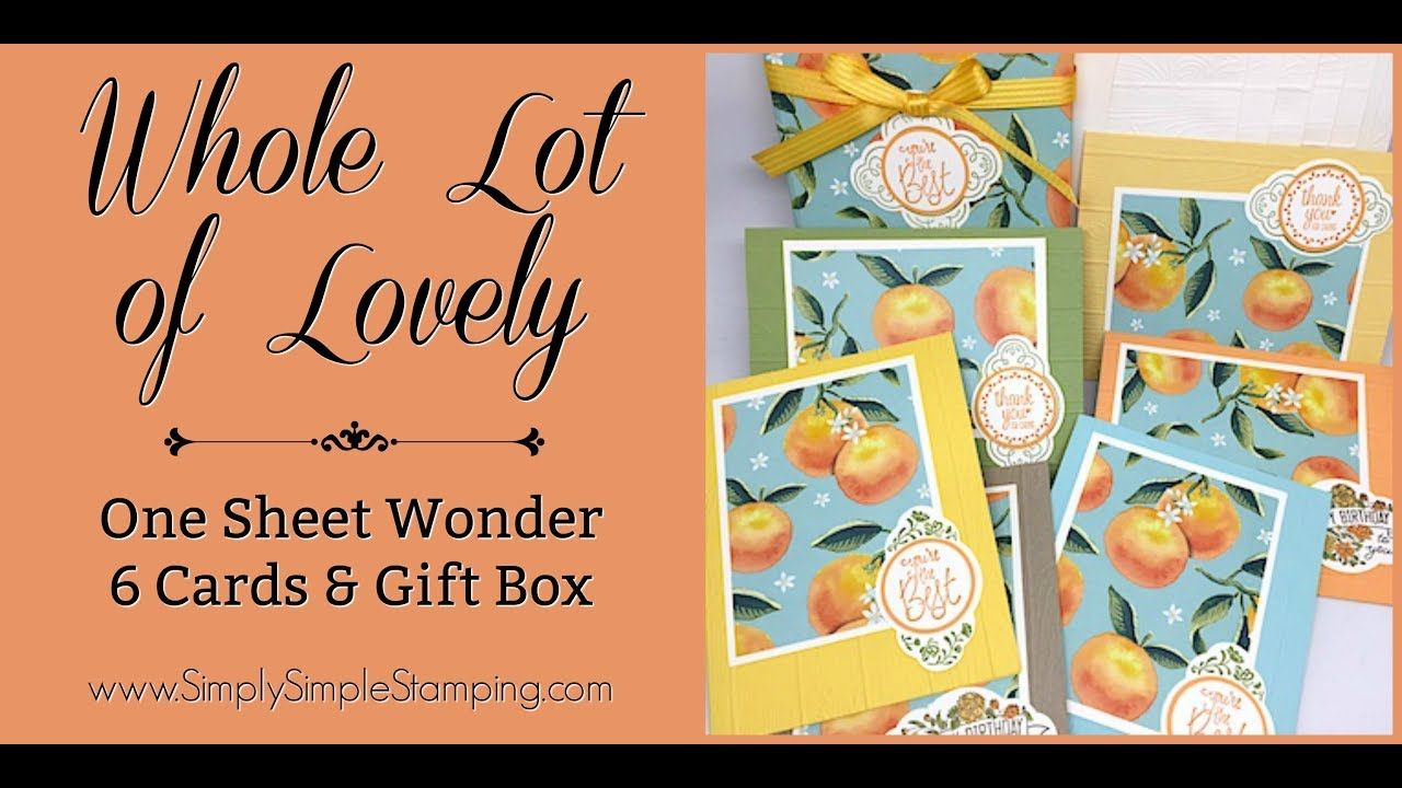 Facebook LIVE Rewind - One Sheet Wonder - Whole Lot of Lovely by Connie ...