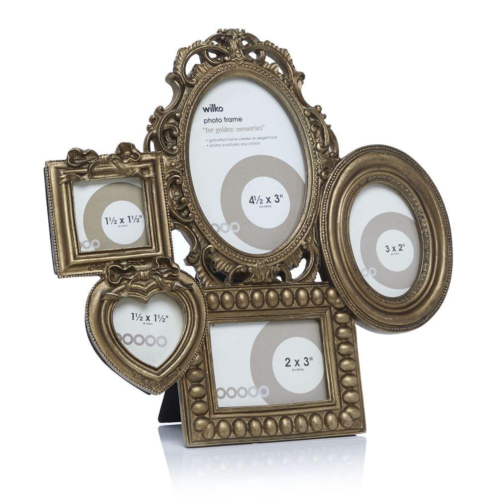 Famous Gold Multi Aperture Photo Frame Motif - Framed Art Ideas ...