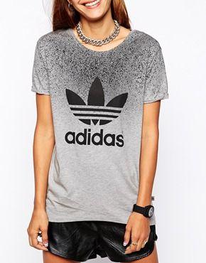 Agrandar adidas Originals x Rita Ora t camisa estilo Pinterest