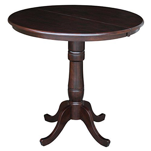 International Concepts 36inch Round Top Pedestal Table With 12inch