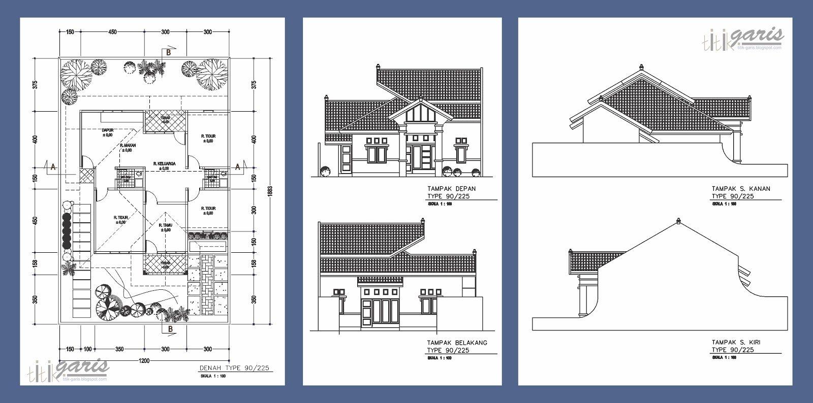 Sketsa Rumah Adat Bali