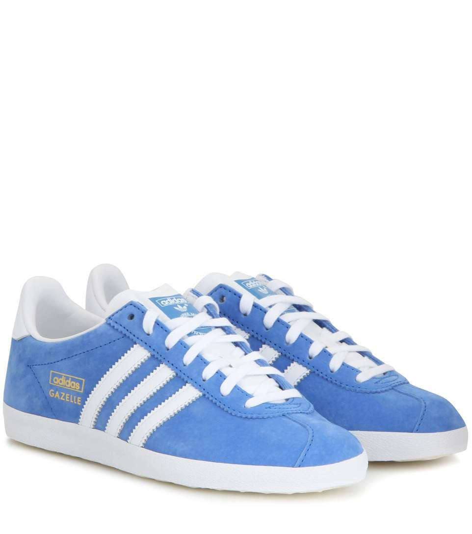 Adidas Gazelle Suede Sneakers in Light Blue