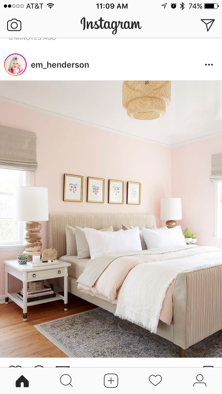 Pretty blush pink walls - Yours Truly by Benjamin Moore in ...
