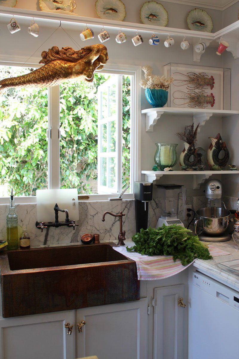 Kitchen window without sill  a look inside the home of lighting designer marjorie skouras