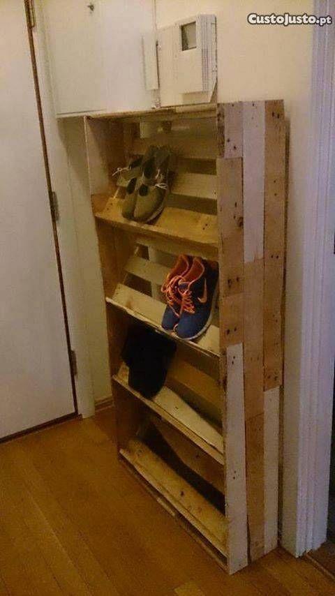 sapateira de palete - à venda - Móveis \ Decoração, Aveiro - Meuble Chaussure Avec Porte Manteau