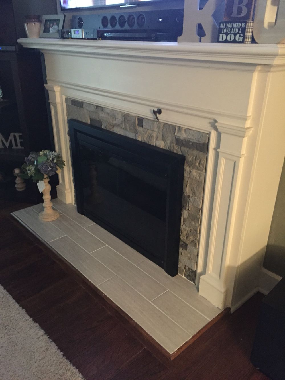 Our New Fireplace Air Stone From Lowes Is The Best Fireplace