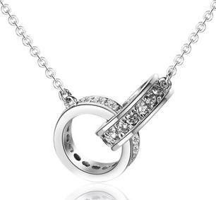 HOT Silver Double Circle Necklace