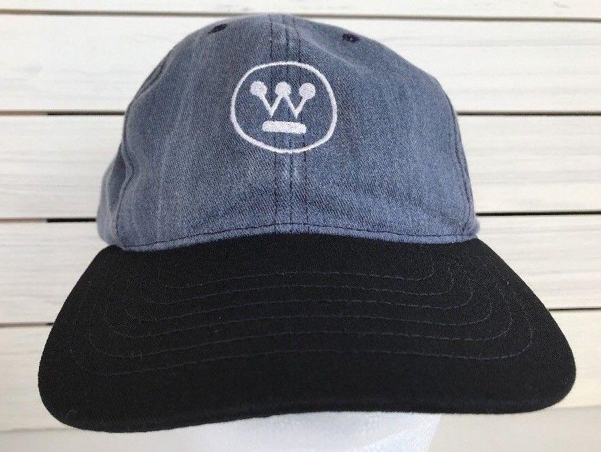 Westinghouse Embroidered SnapbackHat Cap USA Denim Blue Black White ... bf82299492a6