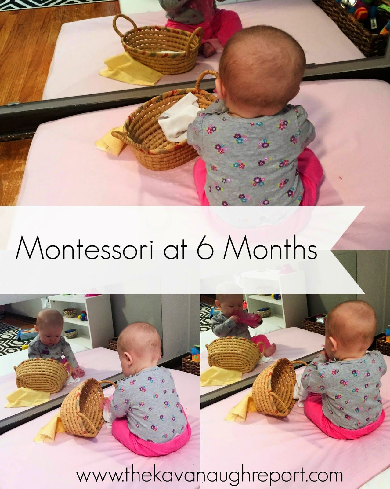 Montessori Work Shelves At 6 Months Fabric Basket For