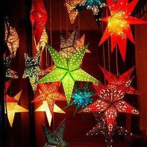 Christmas Tree Supply 2021 4 Day Delivery 10 Pcs Star Decorative Paper Lamps Christmas Tree Decoration Paper Lantern Festival Decoration Indian Decoration Party Supply In 2021 Christmas Tree Decorations Paper Lanterns Paper Decorations