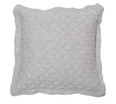 Pottery Barn Linen Diamond Quilted Euro Sham White 26 Quot X26 Quot