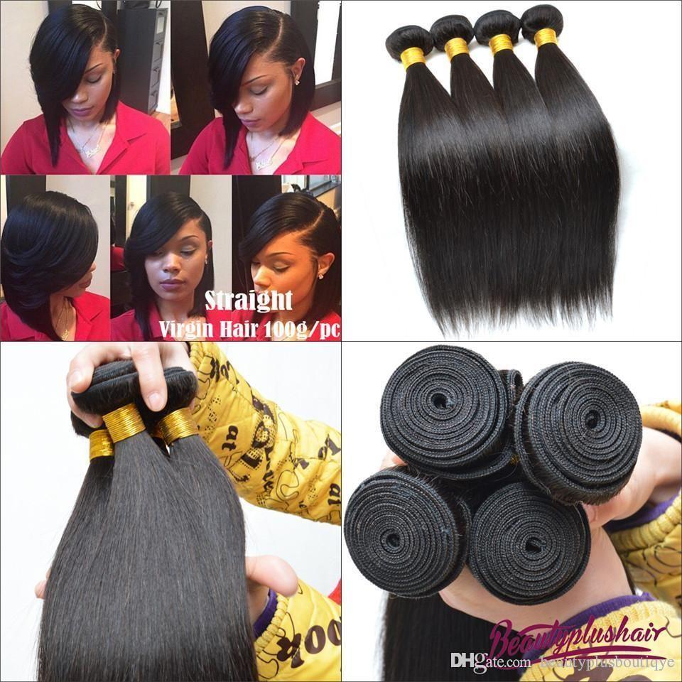Brazilian Hair Extensions Virgin Human Hair Weaves Natural Color
