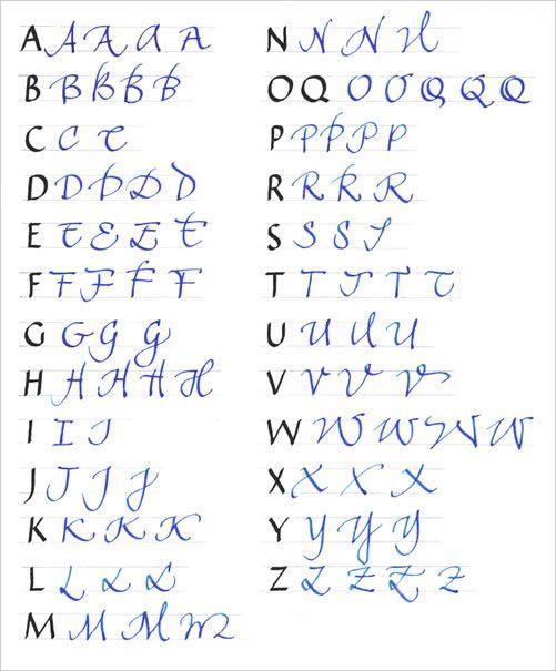 Lamy Kalligrafie Kurs Lettering Schriftzug Alphabet Kreativer Schriftzug