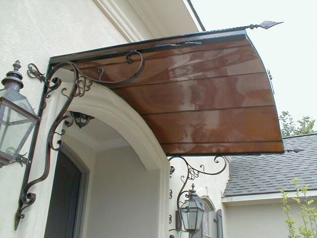Wrought Iron And Copper Awning By KP Originals