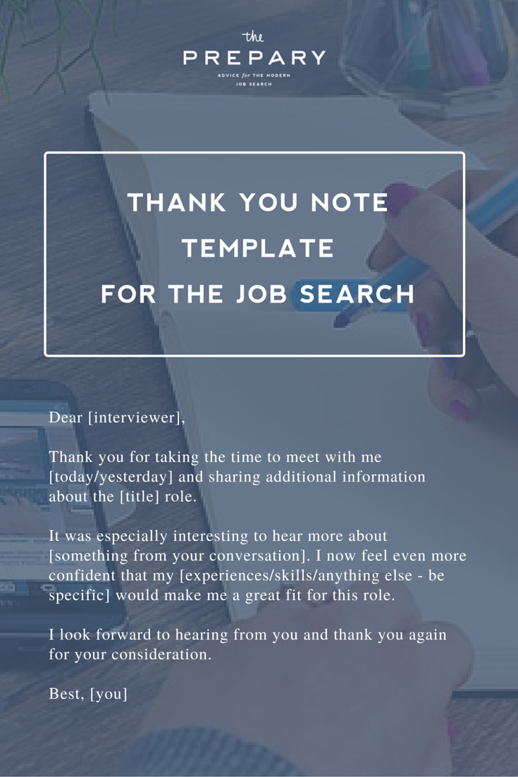 What To Write In A Thank You Note After An Interview  Job