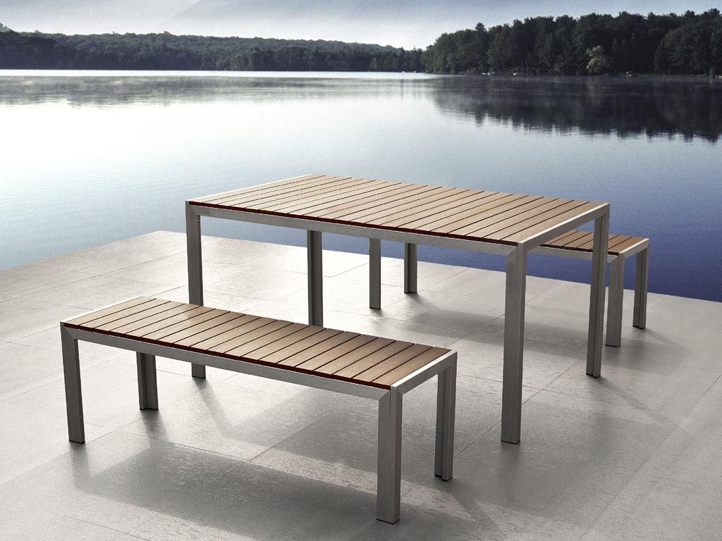metal and wood outdoor furniture wood and metal garden furniture outdoor t - Metal Outdoor Furniture