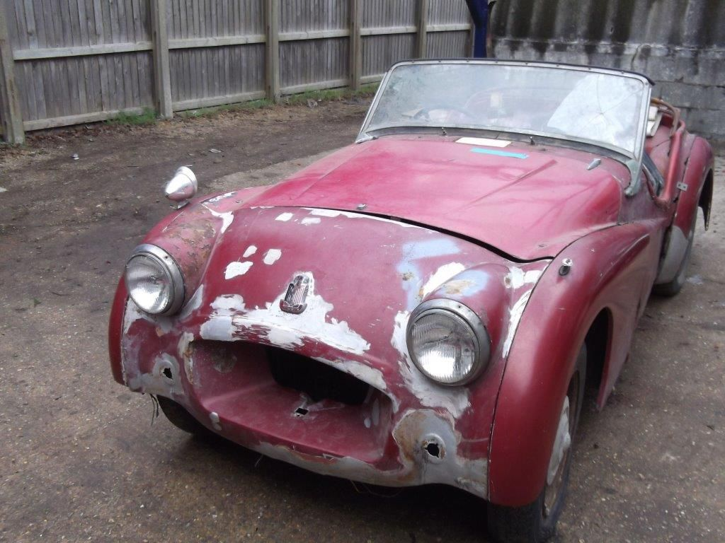 1955 triumph tr2 barn find treasure vintage old classic cars classic cars cars et abandoned. Black Bedroom Furniture Sets. Home Design Ideas