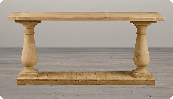 Balustrade Console Table Entryway Table Decor Diy Sofa Table Table