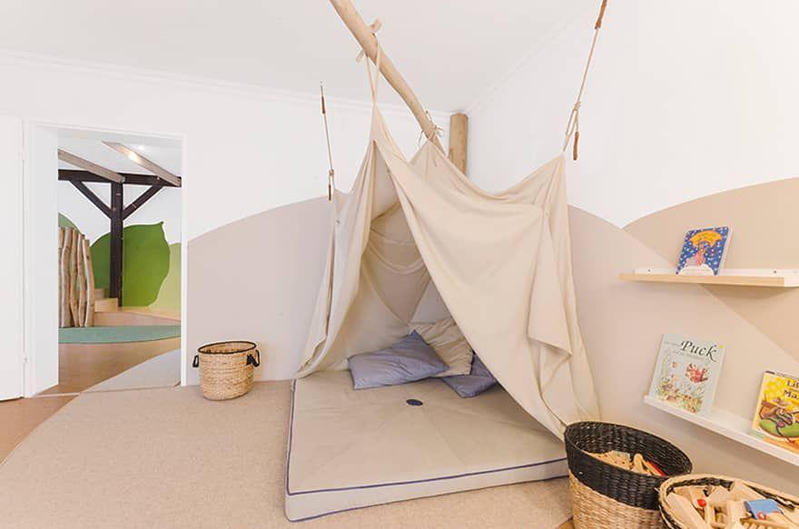 Kita Löwenherz von MJUKA Kindergartenentwurf, Kita räume