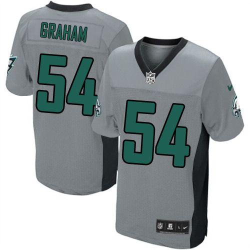 277570d11db NFL Philadelphia Eagles  54 Brandon Graham Elite Grey Shadow Men Jersey