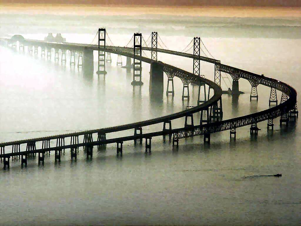 chesapeake bay bridge, virginia 17.6 mi, one of the world's