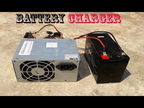 charge 12v battery with power supply, convert atx power