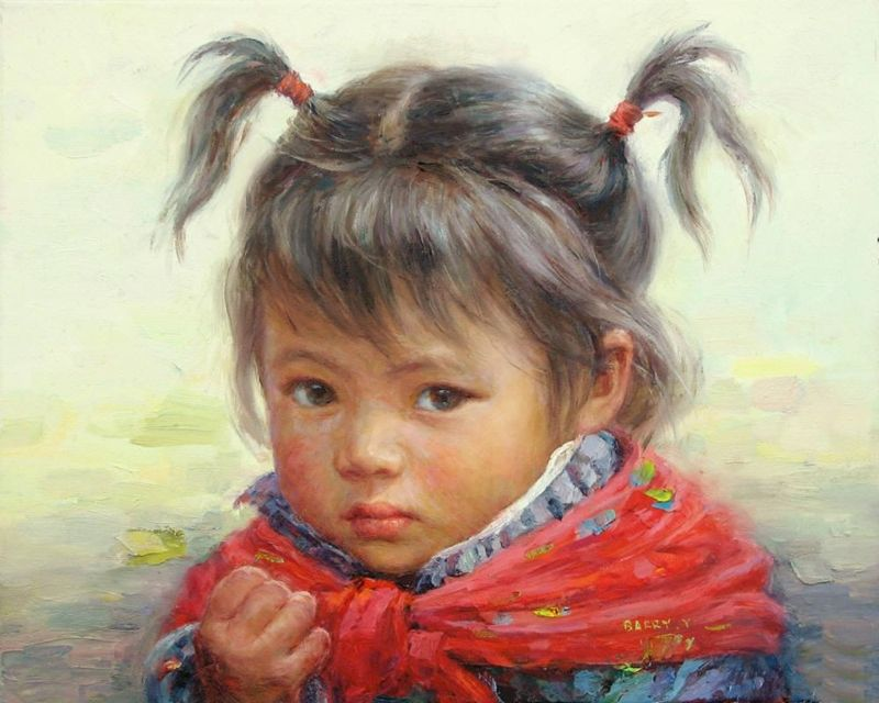 Barry Yang | Chinese Portrait painter | Children in art