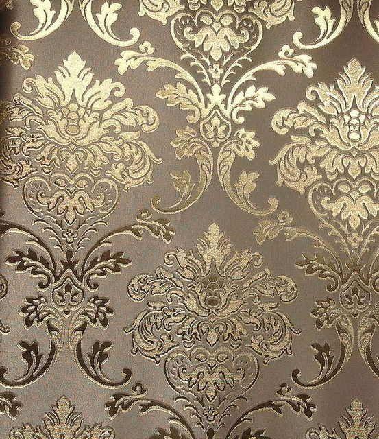 home decor LT660407 Fashion European Modern Style Wall Paper Luxury vinyl gold foil  gold decorative pattern background wallpaper