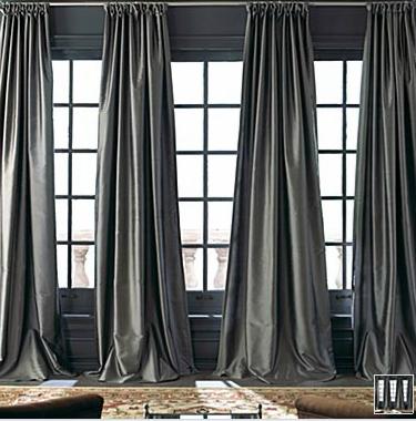 A Big Ol Sexy Charcoal Silk Curtain