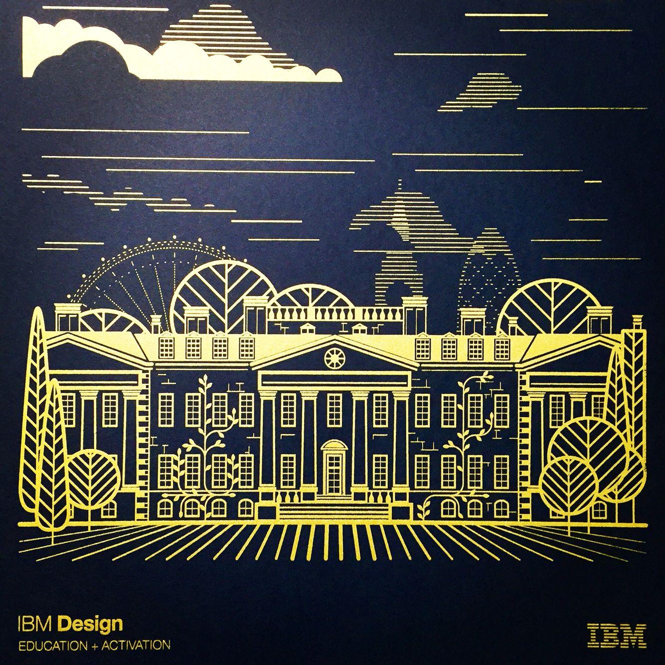 Ibm Hursley C Block Packaging Design Design Illustration