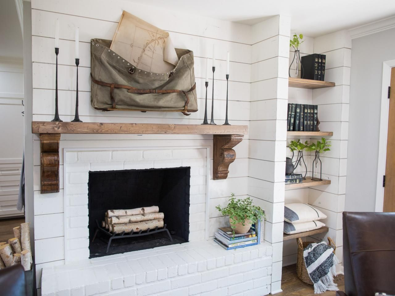 Find The Best Of Fixer Upper From Hgtv Love This Mantel Reclaimed Wood Beam With Antique Corbels